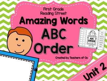 Reading Street Amazing Words ABC Order UNIT 2