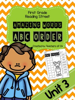 Reading Street Amazing Words ABC Order UNIT 3