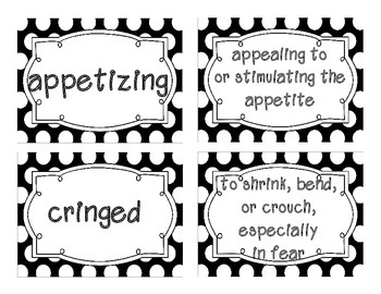Reading Street Amazing Words & Definitions-Grade 3-Unit 1 Week 1 (Black Frame)