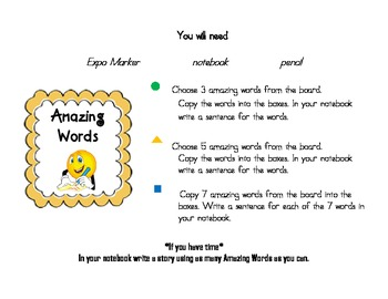 Reading Street Amazing Words Center