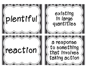 Reading Street Amazing Words & Definitions-Grade 3-Unit 1 Weeks1-5 (Black Frame)
