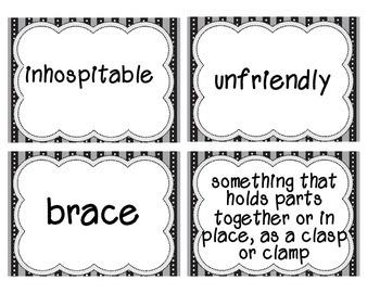 Reading Street Amazing Words & Definitions-Grade 3-Unit 2 Weeks1-5 (Black Frame)