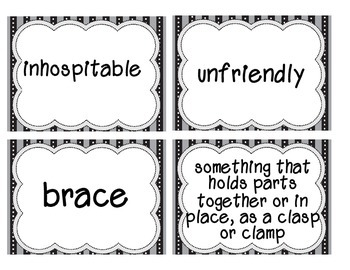 Reading Street Amazing Words & Definitions-Grade 3-Unit 2 Weeks1-5 (Black Frame)