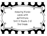 Reading Street Amazing Words & Definitions-Grade 3-Unit 3