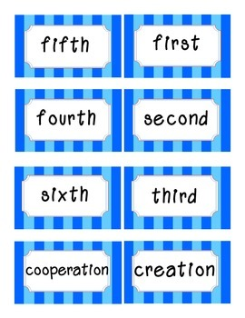 Reading Street Amazing Words-Kindergarten-Unit 1 (Blue Striped)