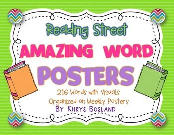 Reading Street Amazing Words - Kindergarten {Weekly Posters w/ Visuals}