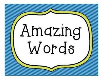 Reading Street Amazing Words Sign