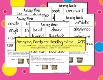 Reading Street Amazing Words Unit Six