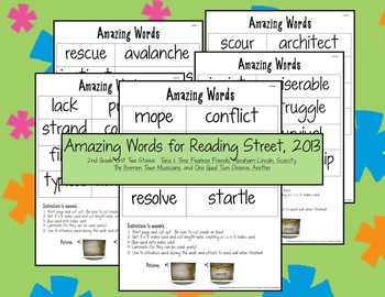 Reading Street Amazing Words Unit Two
