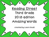 Reading Street Amazing Words - third grade - cool colors