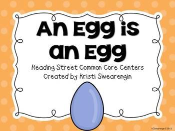 Reading Street An Egg is an Egg Centers Unit 3 Week 1