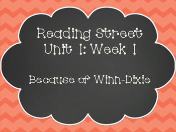Reading Street: Because of Winn-Dixie Posters & Activities
