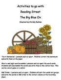 Reading Street Big Blue Ox short o Activities