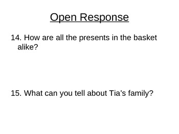 """Reading Street """"Birthday Basket for Tia  """" Selection Test (Turning Point)"""
