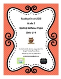 Reading Street CC 2013 Spelling Sentence Pages Grade 2 Units 3-4