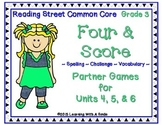 Reading Street Third Grade Spelling, Challenge, Vocabulary Game (Units 4-6)