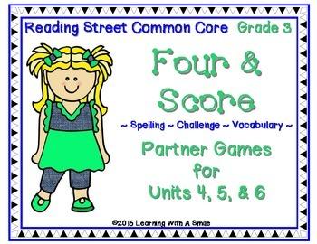 Reading Street Third Grade Spelling, Challenge, Vocabulary
