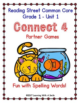 Reading Street CONNECT 4 Fun with Spelling Partner Game GRADE 1 UNIT 1