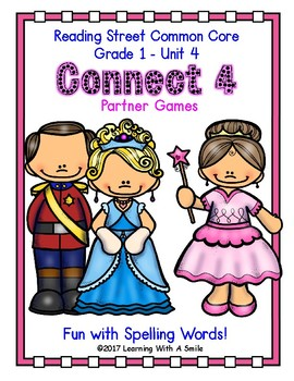 Reading Street CONNECT 4 Fun with Spelling Partner Game GRADE 1 UNIT 4