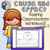 Cause and Effect Reading Comprehension Worksheet 3