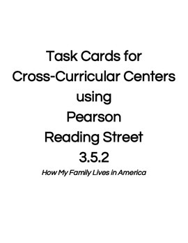 Reading Street Center Task Cards Grade 3 Unit 5 Week 2