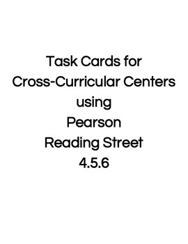 Reading Street Center Task Cards Grade 4 Unit 5 Review Week 6