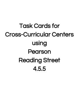 Reading Street Center Task Cards Grade 4 Unit 5 Week 5