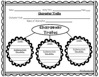 Reading Street Character Traits Worksheet