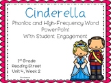 Cinderella, Phonics and High-Frequency Word PowerPoint With Student Engagement