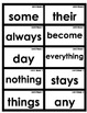 Reading Street  Common Core 1st Grade High Frequency Words