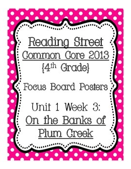 Reading Street Common Core 2013 Focus Board Posters: 4th G