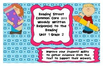 Reading Street Common Core 2013-Written Response Organizers & Tests Gr. 2-Unit 1