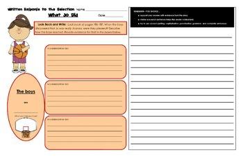 Reading Street Common Core 2013-Written Response Organizers & Tests-Gr. 4-Unit 2