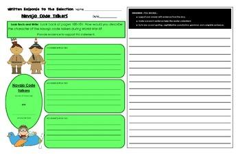 Reading Street Common Core 2013-Written Response Organizers & Tests Gr. 4-Unit 4