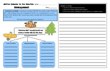 Reading Street Common Core 2013-Written Response Organizers & Tests Gr. 4-Unit 5