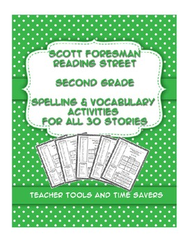 Reading Street 2nd Grade Spelling Amp Vocabulary Activities