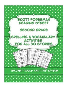 Reading Street 2nd Grade Spelling & Vocabulary Activities