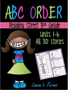 Scott Foresman Reading Street Common Core 3rd Grade Spelling ABC Order Units 1-6