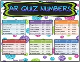 Reading Street 2013 Common Core 3rd Grade AR Quiz numbers Glitter polka dot