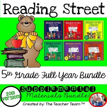 Reading Street 5th Grade Units 1-6 Full Year Bundle Common Core 2013