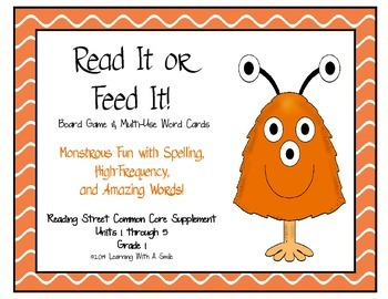 Reading Street Common Core – Amazing, HF, Spelling Word Game – Read It, Feed It!