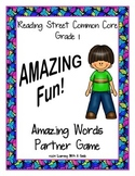 Reading Street FIRST GRADE Amazing Words Supplement ~ AMAZING Fun! Partner Game