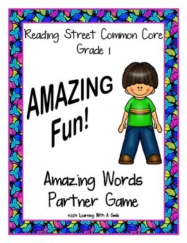 Reading Street FIRST GRADE Amazing Words Supplement ~ AMAZING Fun! Partner Game