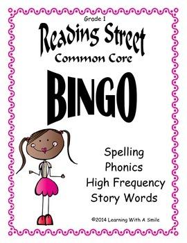 Reading Street BINGO Unit 5 - Grade 1