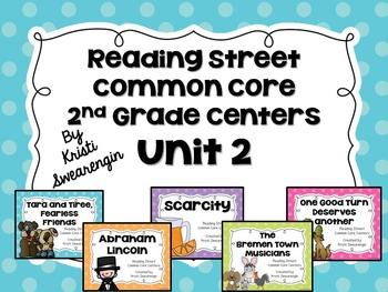 Reading Street Common Core Centers Unit 2 (Second Grade)