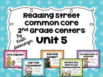 Reading Street Common Core Centers Unit 5 (Second Grade)