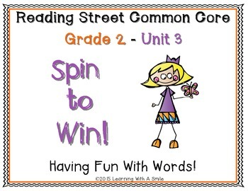 Reading Street Common Core SECOND GRADE Unit 3 Game: Spin to Win!
