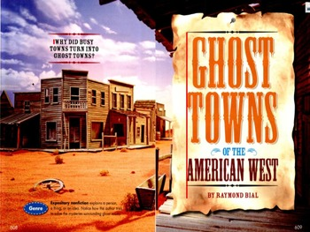 Reading Street Common Core Ghost Towns of the American West Bundle