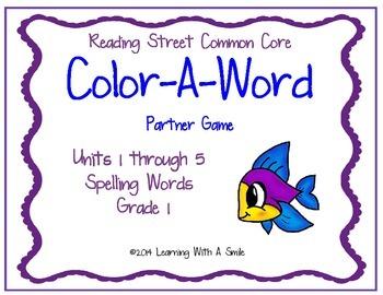 Reading Street First Grade Spelling Partner Game (Units 1-