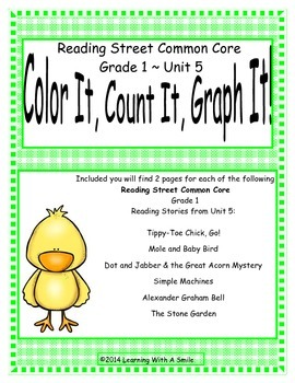 Reading Street First Grade Spelling Unit 5 Color It, Count It, Graph It!
